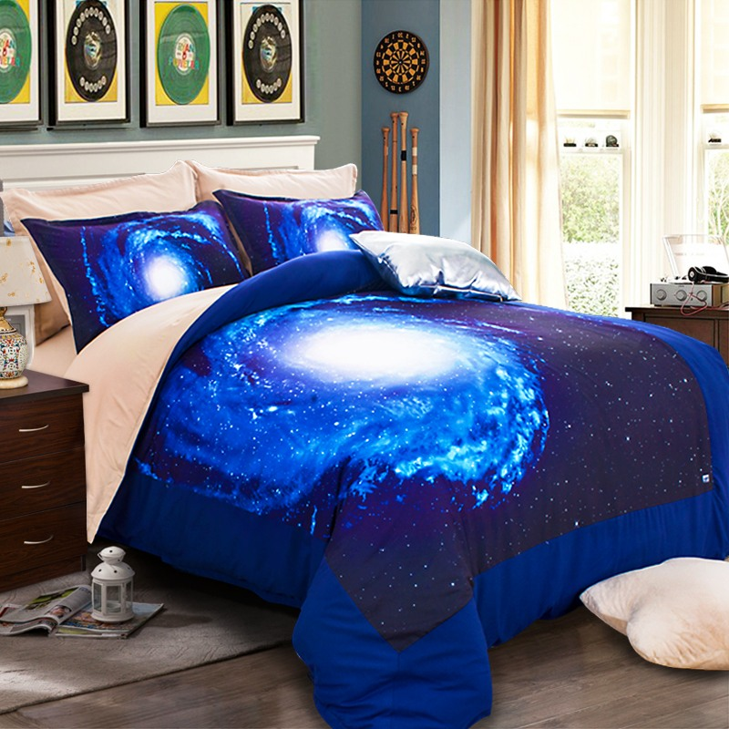 colour stars hipster galaxy 3d bedding sets universe outer space duvet cover bed sheet fitted. Black Bedroom Furniture Sets. Home Design Ideas