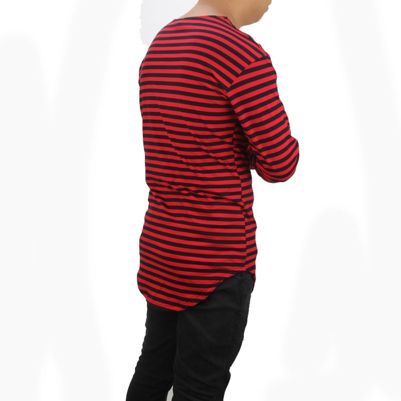 2016 Red Striped T Shirt Wholesale Fashion Brand Summer