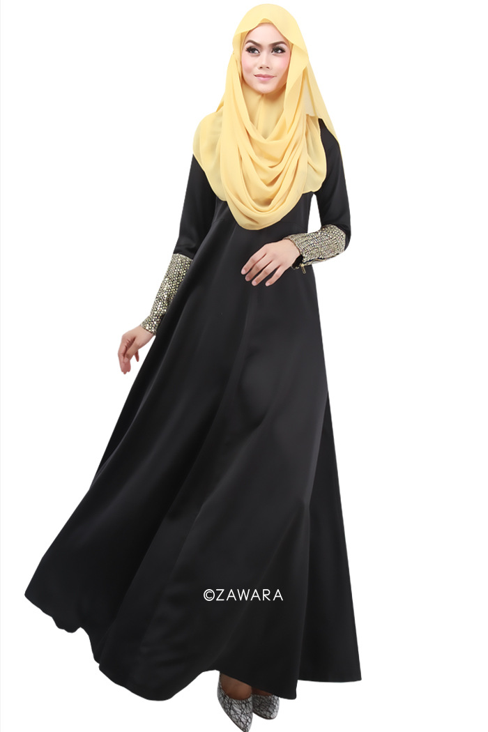 Creative 2013 Alvina Hijab Dress Collection Black Dress For Muslim Women