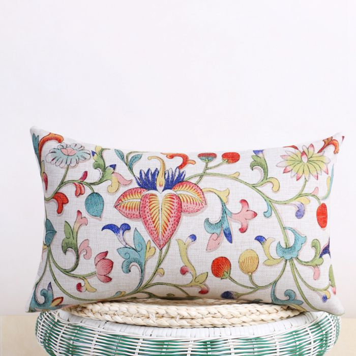 Chinese style vine floral cushion cover decorative printed - Fundas cojines sofa ...