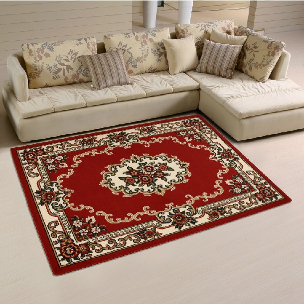 Ethnic Persian Style Living Room Coffee Table Mats Anti Slip Carpet Floor Carpet Area Rug Mat