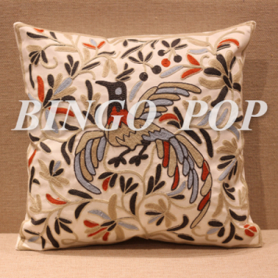 100% Cotton Embroidery Throw Pillow Case Decorative Cushion Cover 18 X 18 Home Pillows Covers ...