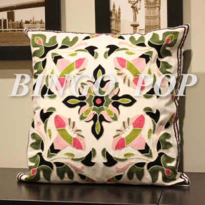 Throw Pillow Covers 25x25 : 100% Cotton Embroidery Throw Pillow Case Decorative Cushion Cover 18 X 18 Home Pillows Covers ...