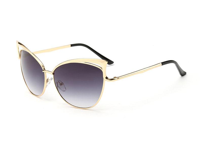 Best Metal Frame Glasses : Cat Eye Sunglasses For Women Top Quality Aluminum Metal ...
