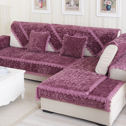 Fabric sectional couch covers lace luxury slipcovers sofa - Housse de chaise moderne ...