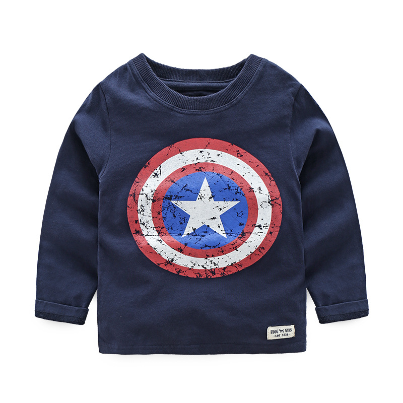 2017 Spring Autumn Long Sleeve T Shirts Hoo s Captain