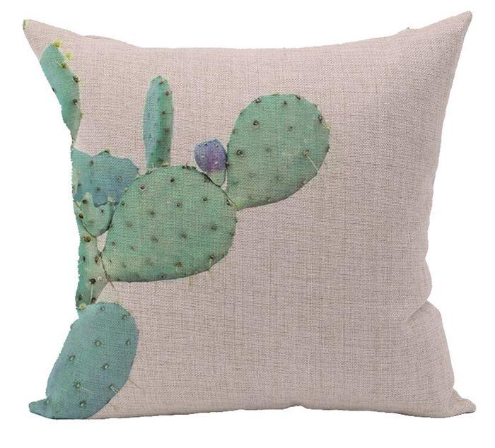 Plant cactus cushion cover green home decor sofa chair bed - Fundas cojines sofa ...