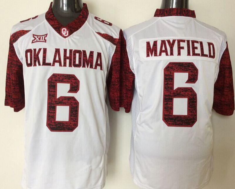 Baker Mayfield >> 2017 2016 #6 Baker Mayfield Youth Jersey Oklahoma Sooners ...