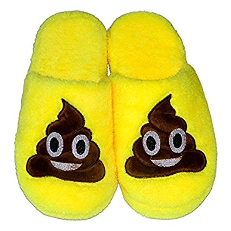 Cute Indoor Slippers For Family Unisex Cartoon Emoji Qq ...
