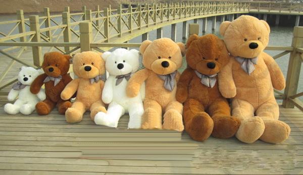 2017 wholesale 80cm brown life size doll plush large teddy bear for sale giant big soft toys. Black Bedroom Furniture Sets. Home Design Ideas