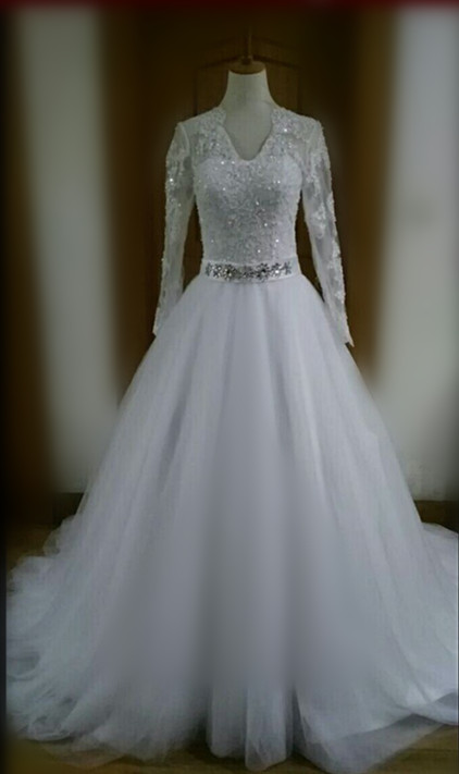 Discount 2016 most elegant long sleeve wedding dresses v for Most elegant wedding dresses