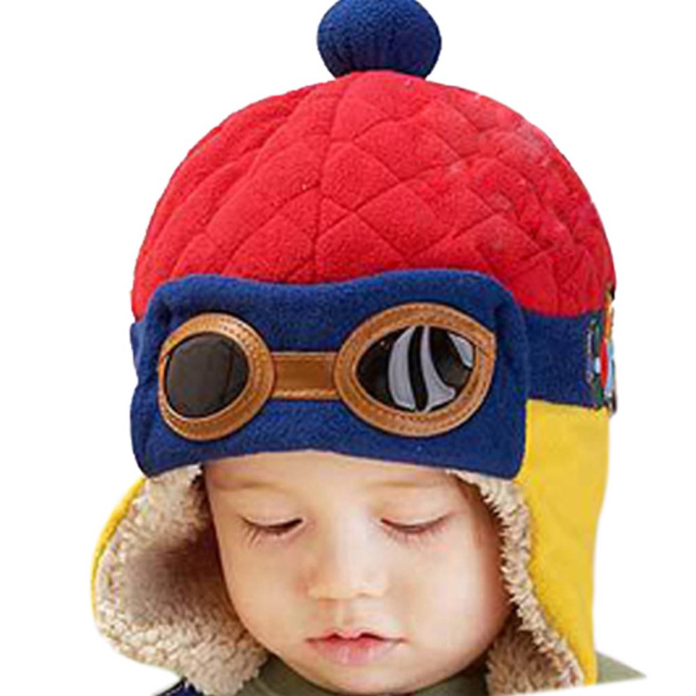 2017 new cool baby hats boys pilot aviator hat