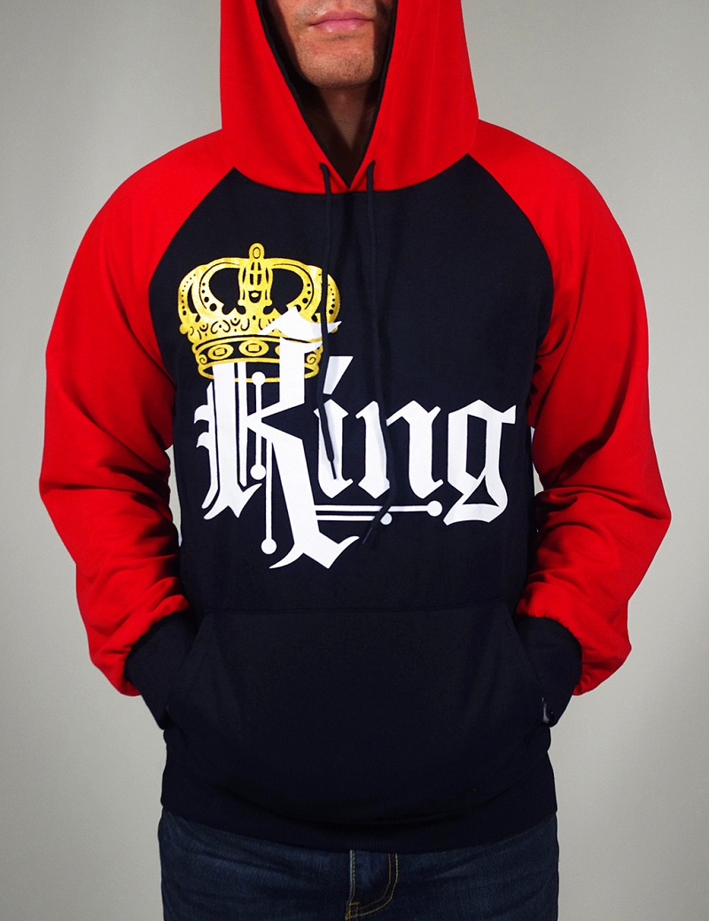 2017 new fashion king queen men women fleece sweatshirts. Black Bedroom Furniture Sets. Home Design Ideas