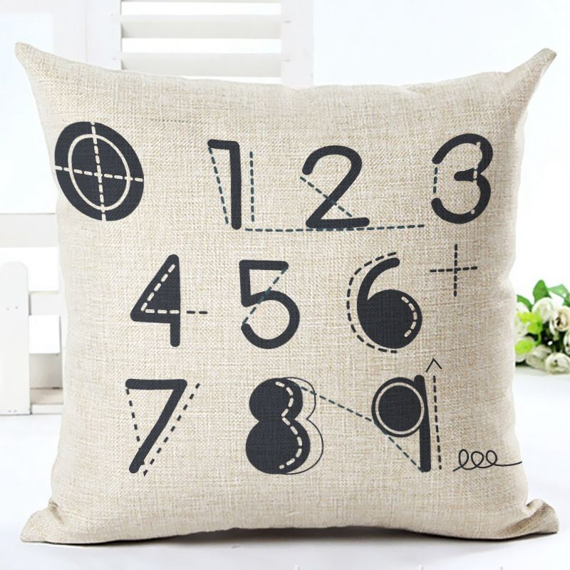 Vintage letters cushion cover love quote couch sofa throw for Furniture 5 letters word whizzle