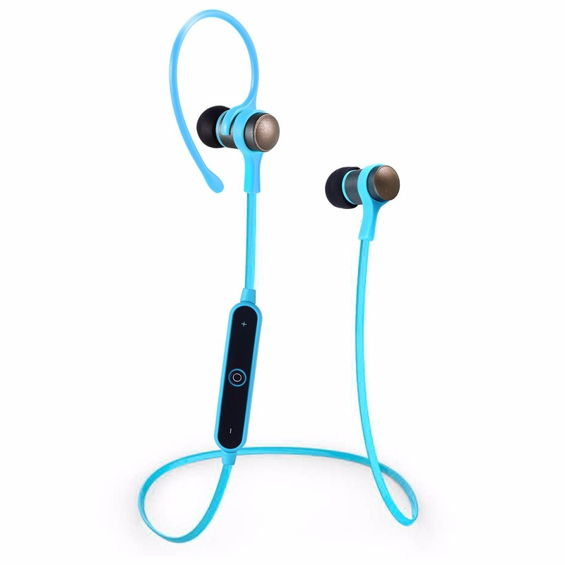 bluetooth earphone s6 1 metal wireless stereo headset sport ear hook headphon. Black Bedroom Furniture Sets. Home Design Ideas