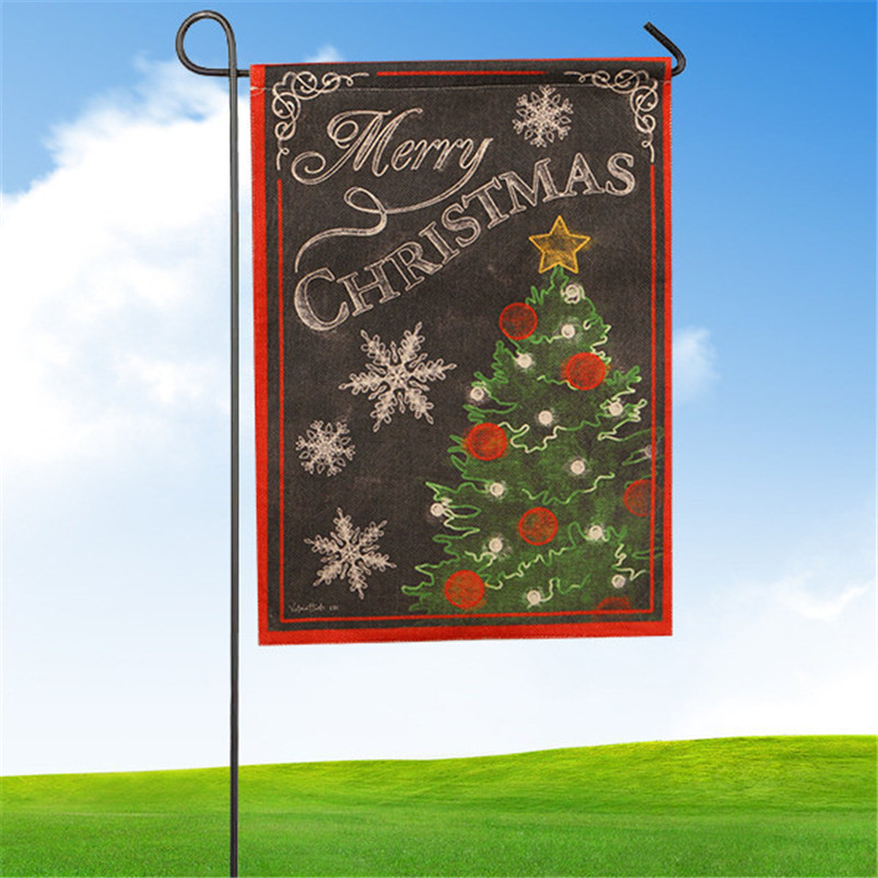 2017 Wholesale 2016 New Christmas Garden Flag Indoor