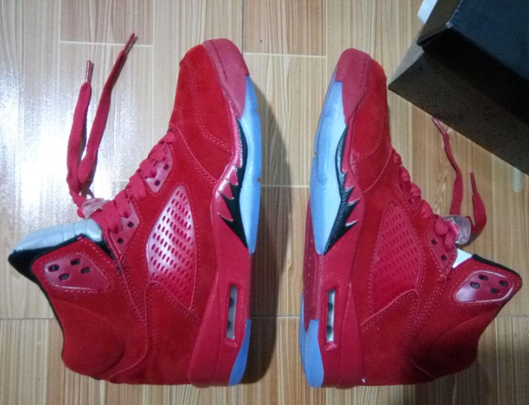 Raging Bull 5s Red Suede 5s Ice Blue Suede 5s Retro 5 With ...