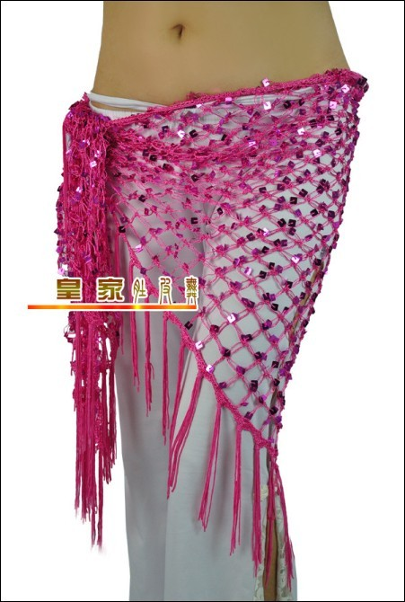 Free Crochet Pattern Hip Scarf : 2017 Triangle Crochet Net Sequins Belly Dance Hip Scarf ...