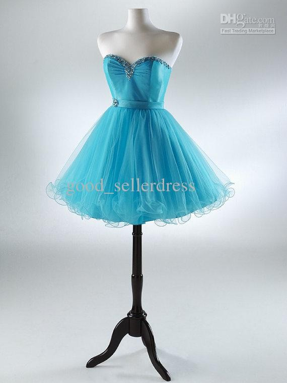 2013 homecoming dresses short little light sky blue purple