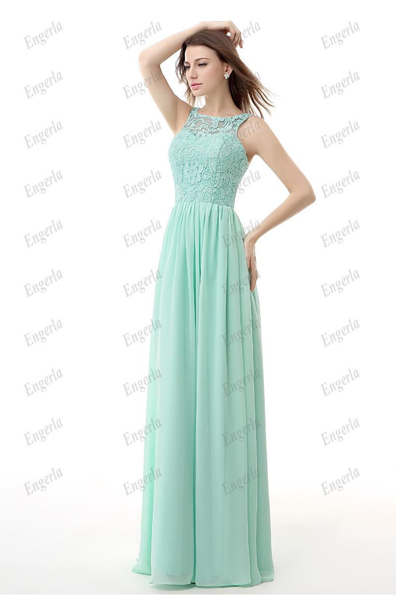 Mint green chiffon cheap bridesmaid dresses 2015 jewel for Green wedding bridesmaid dresses
