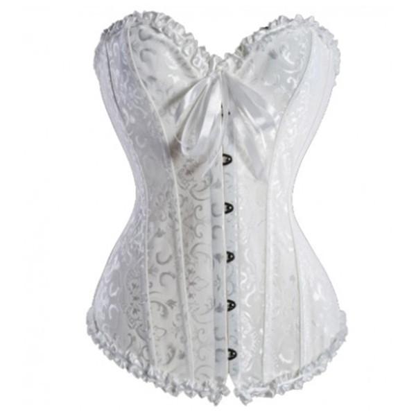 Best white black red sexy women wedding dress bustier for White corset under wedding dress