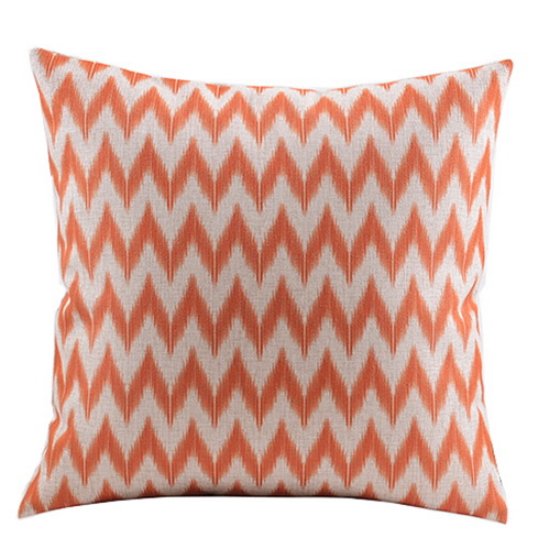 Home Decor Cotton Linen Decorative Throw Pillow Cover Cushion Cover Simple Chevron & Geometric ...