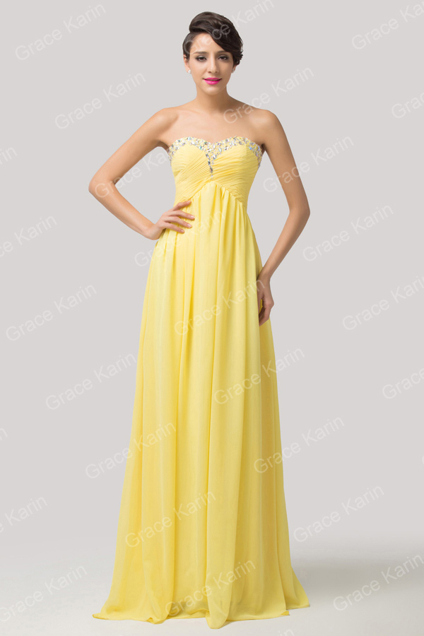 Grace Karin Chic Cheap Long Strapless Sweetheart Neckline ...