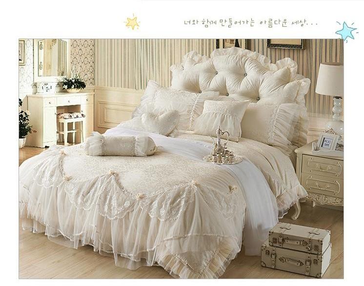 2016 luxury jacquard princess bedding sets queen king. Black Bedroom Furniture Sets. Home Design Ideas
