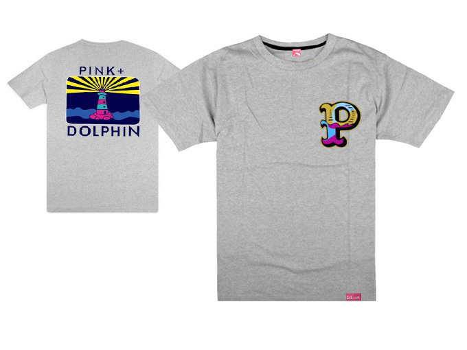 Pink dolphin t shirts clothes men fashion short sleeve t for Name brand t shirts on sale