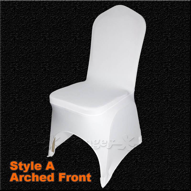 acheter universel blanc polyester spandex de mariage chaise couvre pour les mariages banquet. Black Bedroom Furniture Sets. Home Design Ideas
