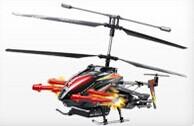 2.4G三通道带陀螺仪合金打弹遥控直升机