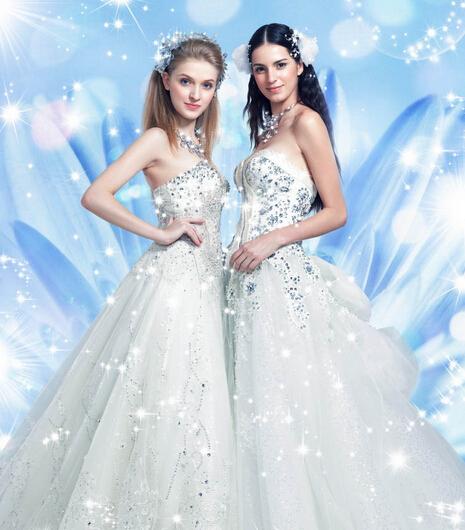 水晶纱料婚纱