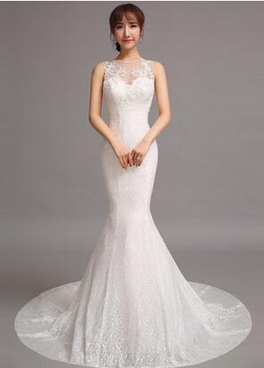 珍珠纱婚纱