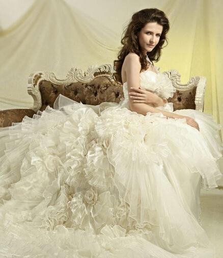 人造纤维婚纱