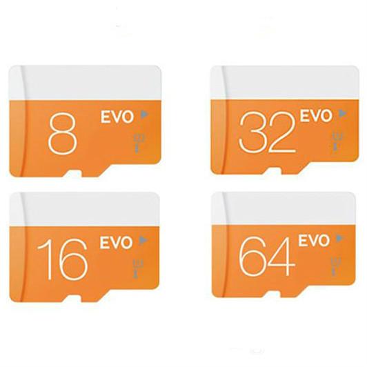 La nouvelle vogue du 2017!! Classe 10 EVO 128GB 64GB 32GB 16GB 8GB Micr SD Card MicroSD TF Carte mémoire C10 Flash SDHC SD Adaptateur de Paquet de détail