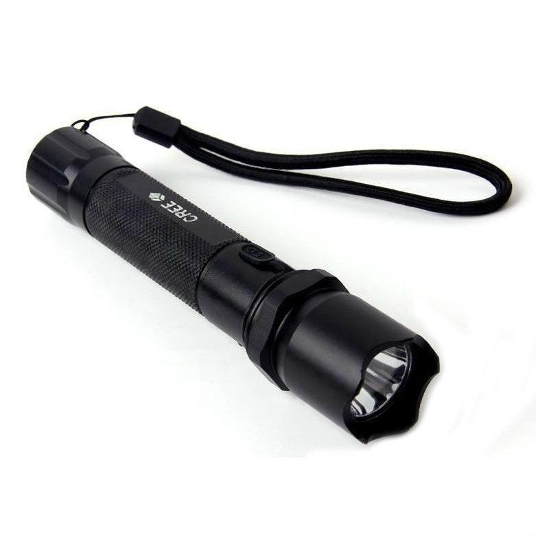 CREE Q5 LED Handlight Lumière d'autodéfense authentique Lanterne Led lampe de poche Lampe Lanterne tactique Lampes torches