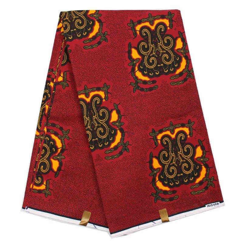 Robe africaine en cire africaine imprimé tissu patchwork textile 6yards coton tissu tissu patchwork super cire 100%! DH003