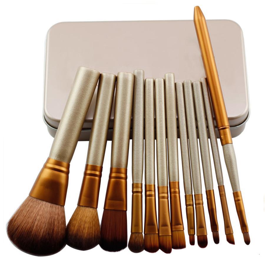 package féminin 2017 nouvelle vogue Professionnel 12 PCS Cosmétique  Facial Maquillage Outils à brosse Brosses à maquillage Un Kit Avec Boîte de vente au détail