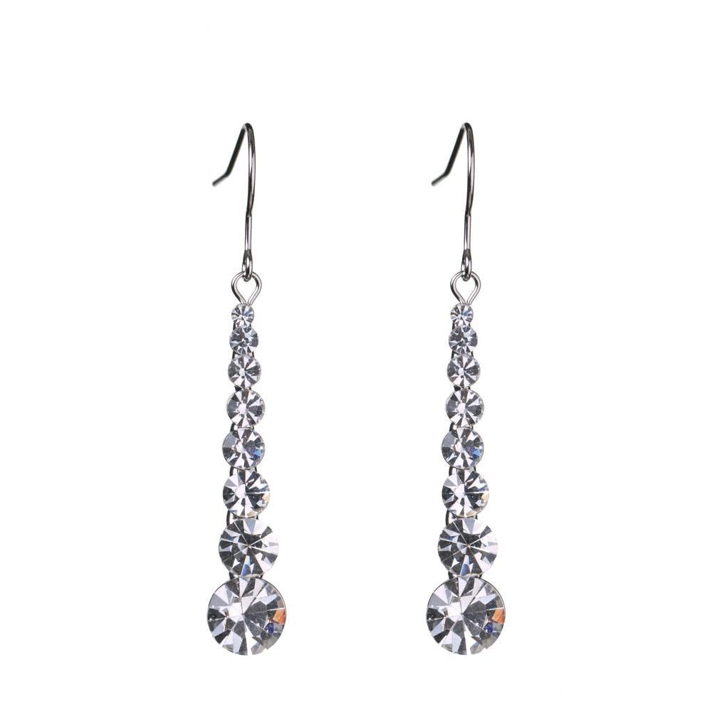 Neoglory Charm Auden Rhinestone Beads Boucles d'oreilles longues Pour Femmes Bijoux De Mode