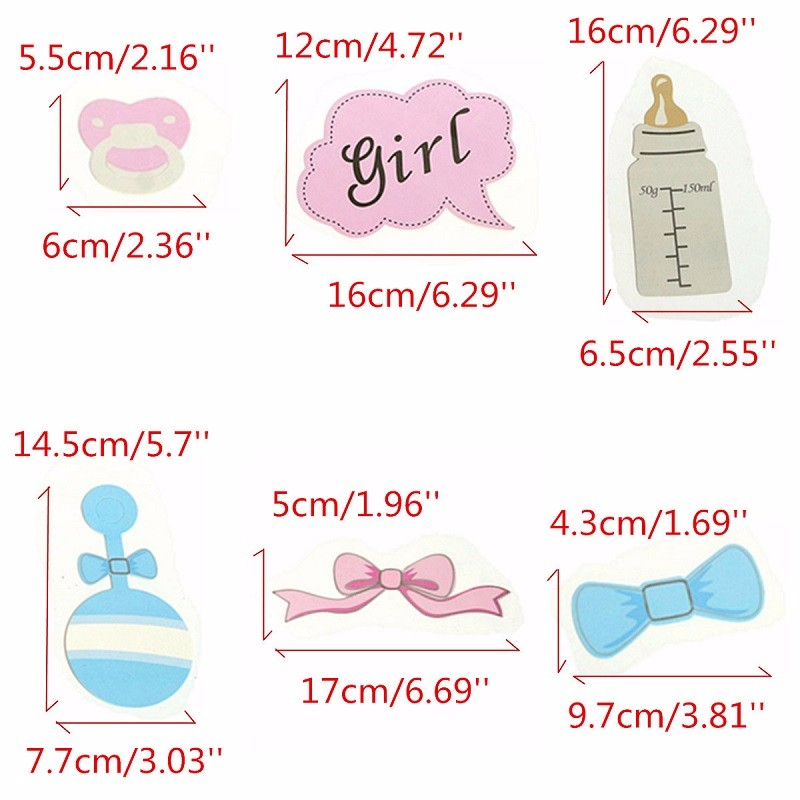 Wholesale-DIY Party Photo Booth PropsBottle Baby Shower Boy Girl ...