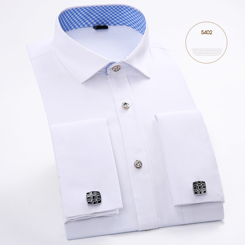 Online cheap wholesale 2016 luxury men dress shirt french for Discount french cuff dress shirts