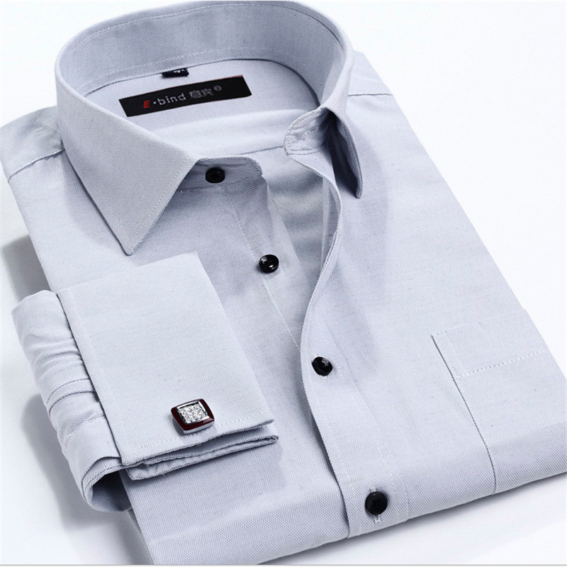 Best wholesale yibin men business dress shirts turn down for Cufflinks on regular dress shirt