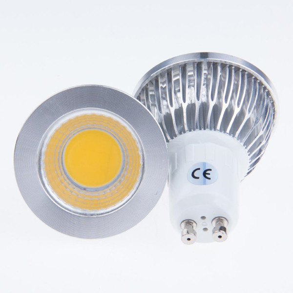 Wholesale-GU10 9W COB LED Sport light lamp High Power bulb More than 120 degrees AC85-265V GU10 with tracking number