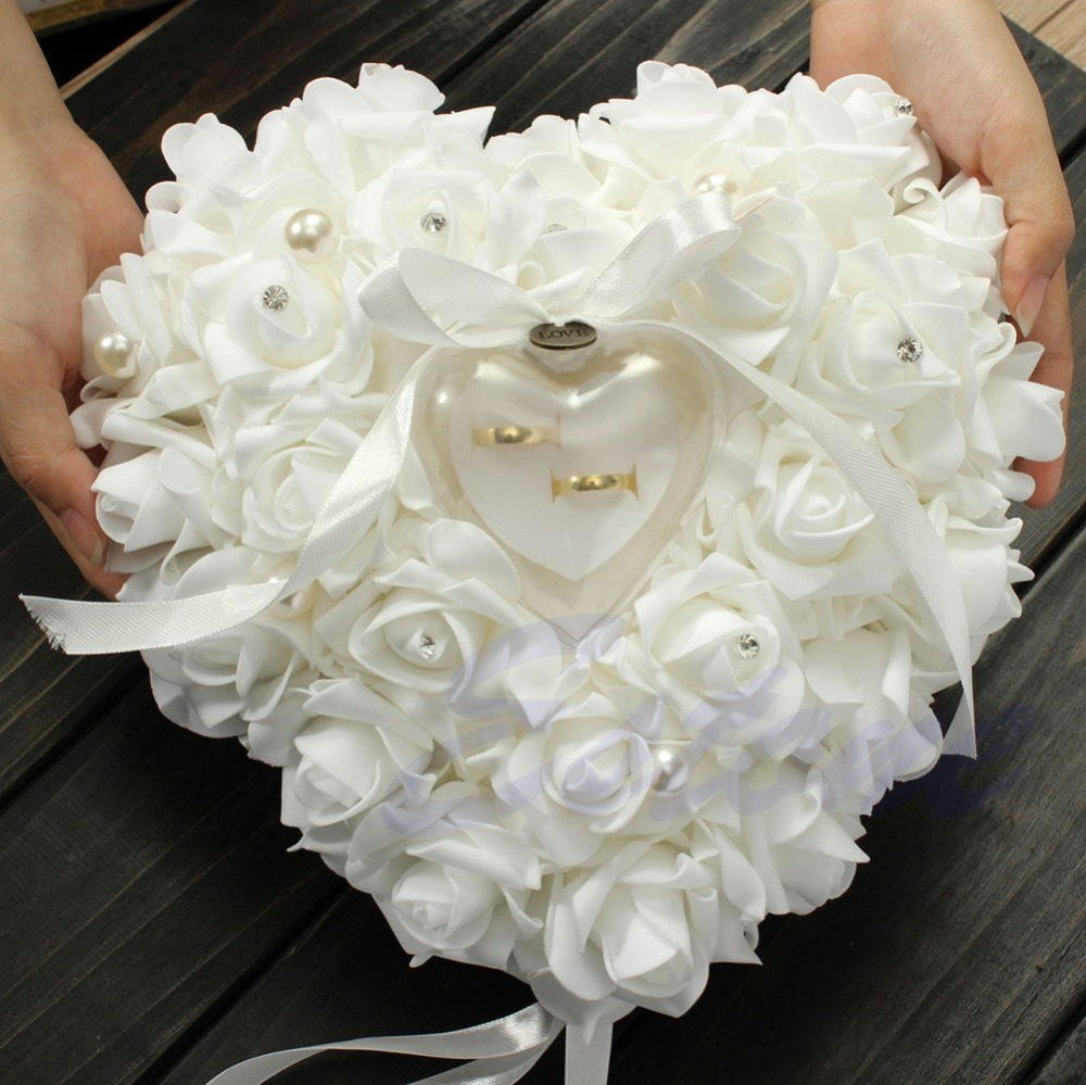 Wholesale Free Shipping New Elegant Rose Wedding Favors Heart Shaped
