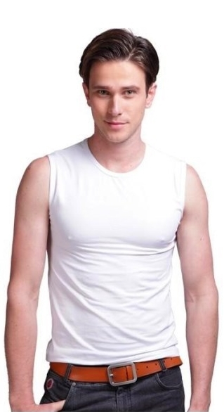 Online cheap wholesale 2015 mens bodybuilding clothing for Mens sleeveless denim shirt wholesale