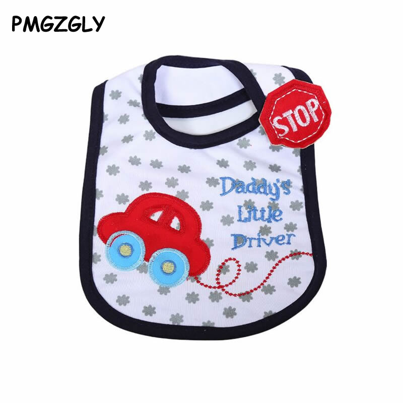 Wholesale- Cute Newborn Baby Bibs Burp Cloths 100% Cotton Infant Baby Girl Boy Bibs Cartoon Animal Pattern Baby Saliva Towel Burp Cloths