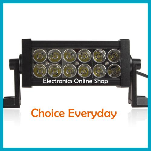 Wholesale-Hot ! 2520Lm 36W High-Power 12 x 3W Bead LEDs Adjustable Bracket Offroad LED Work Light Bar Lamp Spotlight Or Floodlight