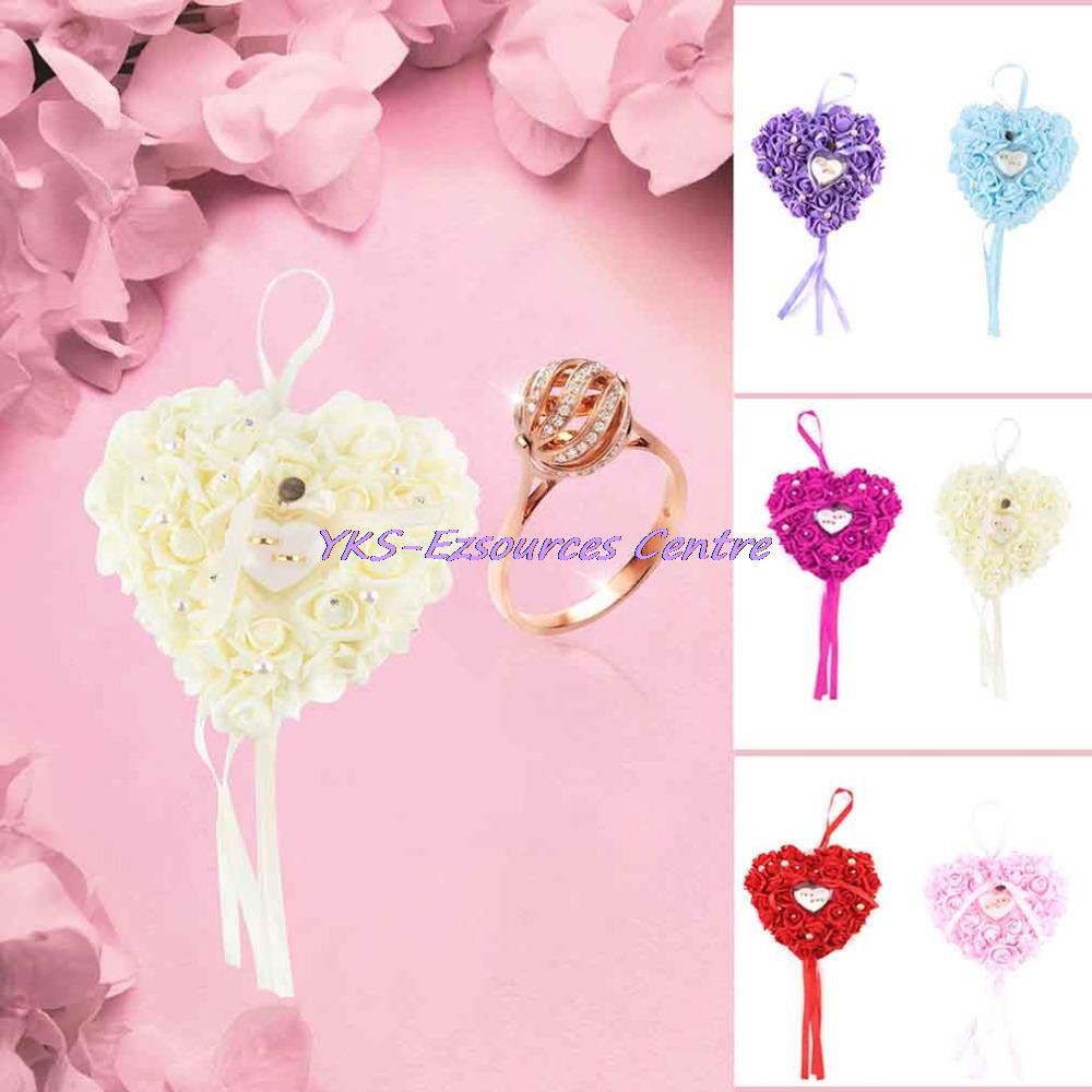 Wholesale-Wedding Favors Ring Box Elegant Lace Rose Rhinestone Heart ...
