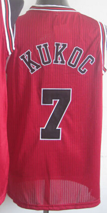 Wholesale-Accept Mix Order #7 Toni Kukoc Jersey Stitched Mesh Jerseys Free Shipping Top Quality Red White