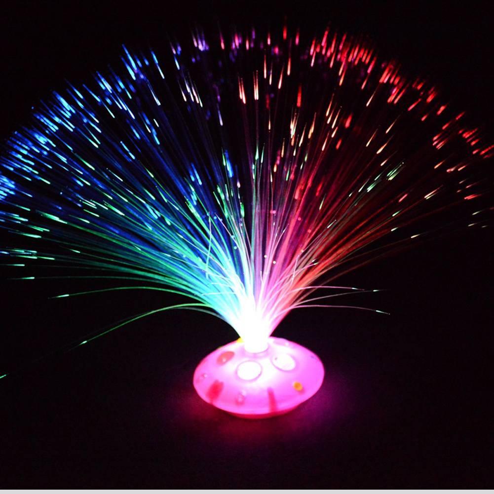 Wholesale-Auto Color Changing LED Braid Optic Fiber Light Nightlight ABS Lamp Bright Glowing Lighting Home Holiday Party Decoration